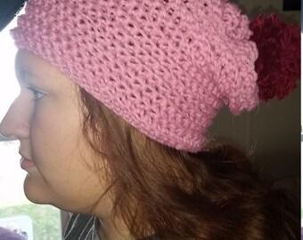 Handmade crochet slouch hat