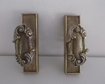 pair of handles of Baroque style castle doors