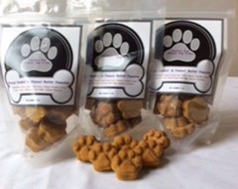 Organic Dog Treats - Brucys Punkin' & Peanut Butter Pawsties