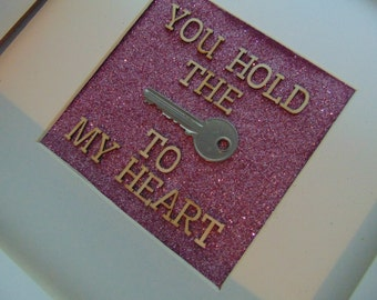 You hold the key to my heart Deep Box Frame