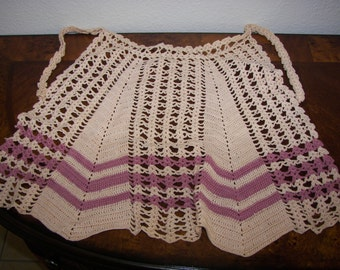 Hand Crocheted Vintage Apron