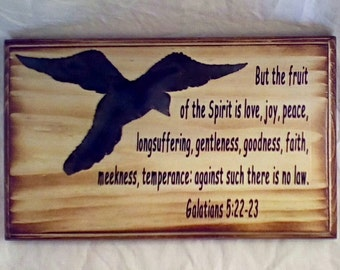 Bible Verse Plaque Galatians 5:22-23