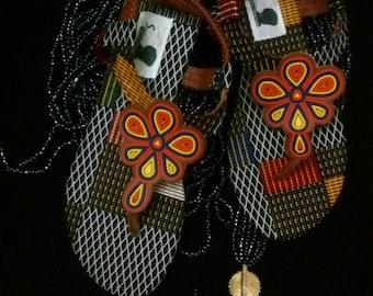 Wax/Ankara shoes sandals