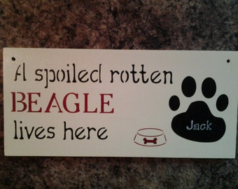 Personalized dog sign for dog lovers