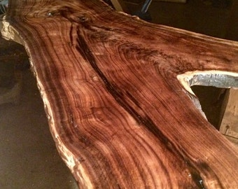 Live edge Black Walnut crotch cut Coffee Table