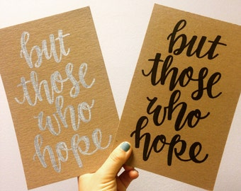 but those who hope print