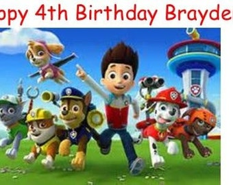 25 WATERPROOF Paw Patrol Birthday Water Bottle Labels personalized FREE SHIPPING