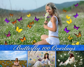 100 Butterfly Overlays Photoshop Overlay Natural Butterfly Overlays Flying Butterflies Flying Butterfly Photo Overlays Butterfly PNG