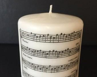 Music Pillar Candle