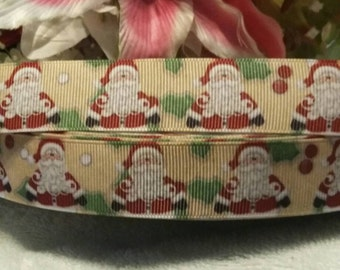 "3 yards, 7/8"" Santa clause design grosgrain ribbon"