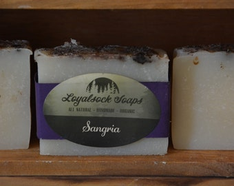 Sangria Soap - organic, handmade, all natural, cold process,