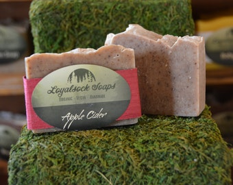 Apple Cider Soap - organic, handmade, all natural, cold process,