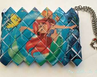 The Little Mermaid,Ariel,Princess wallet. Disney purse,disney mermaid,princess ariel,princess collection, candy wrapper wallet, eco friendly