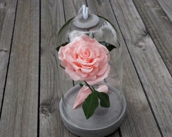 Crepe Paper Flower Single Rose