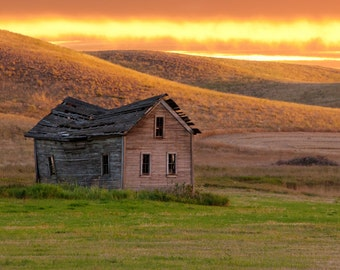 Old Barn in Cheney, Eastern WA, Rural and Landscape Photography - Fine Art Print by Meleah Reardon