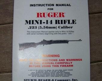 Ruger Mini 14 Rifle Instruction Manual 1-80