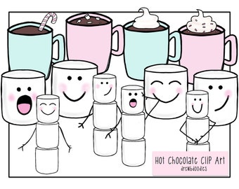 Hot Chocolate Clip Art- Instant Download