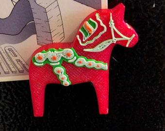 Swedish Dala Horse Magnet - 3D Printed