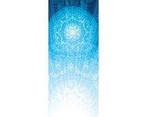 Blue Mandala Yoga Mat - Custom Printed Yoga Mat Eco-PVC, Latex, Phthalate and Silicone Free