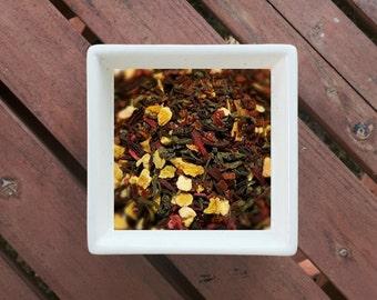 Rosehip Overload - Loose Leaf Tea, Organic Herbal Tea, Rosehip Tea, Organic Green Tea, Hibiscus, Lemon Peel, Vegan Friendly Tea, Bold Tea