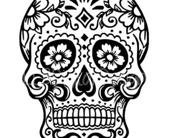 Sugar Skull SVG File-Day of the Dead SVG File- Sugar Skull Instant Download