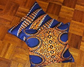 Reversible African Print Pillow