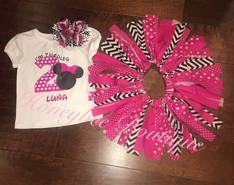 Minnie Mouse Birthay Tutu Outfit
