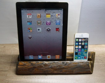 iPad stand. Iphone stand. Wood iPad stand. Rustic stand. Rustic iPad stand.