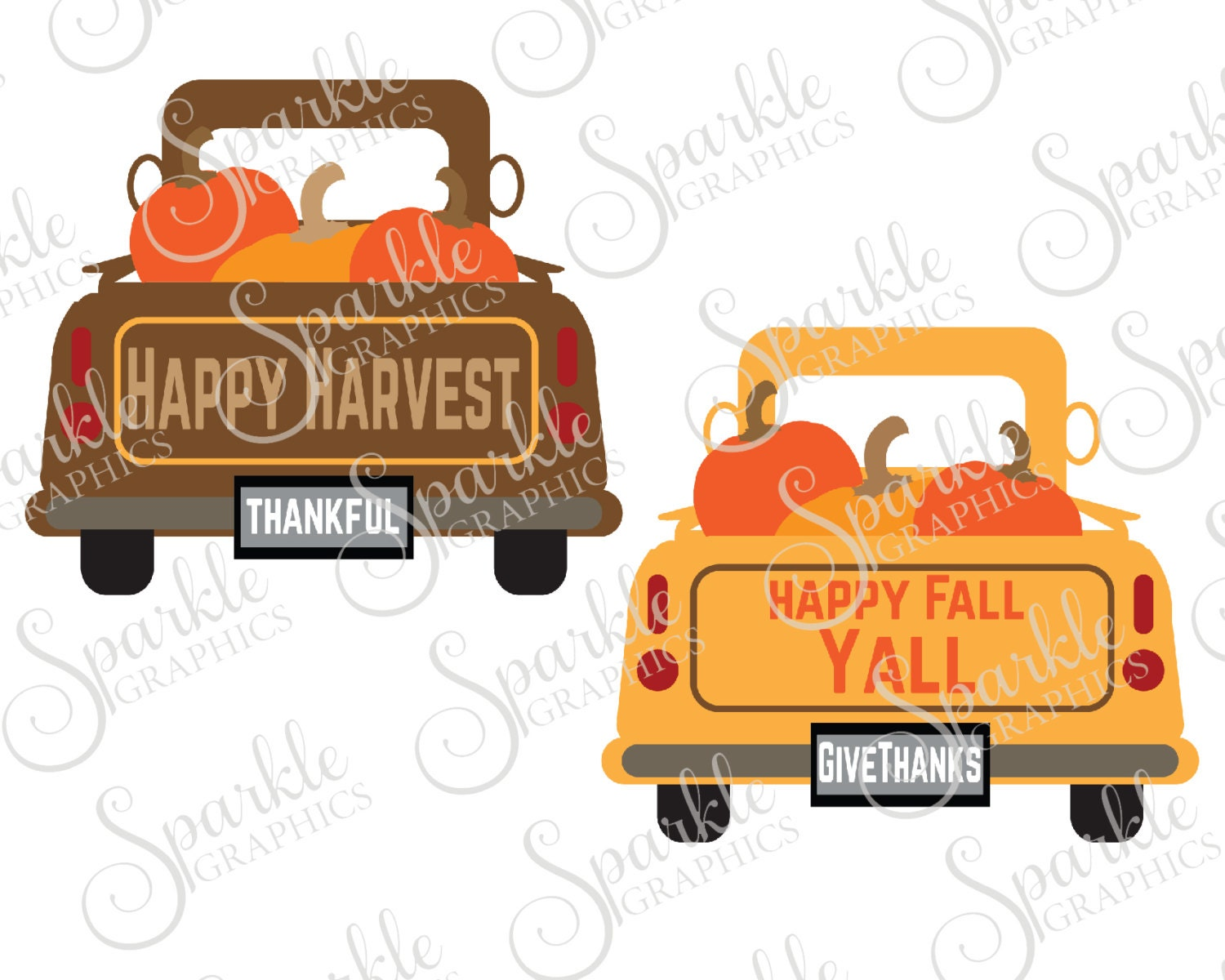 Antique Truck Cut File Fall SVG October SVG Pumpkin Vintage