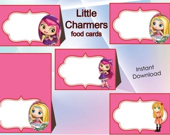 Little charmers Food Labels, Food Tents Cards Tags,Little charmers Party , Little charmers birthday, INSTANT DOWNLOAD,