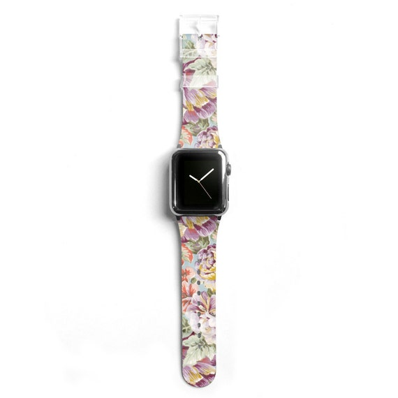 floral apple watch band women apple watch strap by agathecase