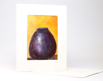 "Fine Art ""Urn"" Blank Single Card With Envelope"