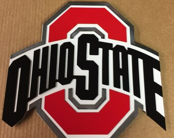 Ohio State Metal Wall Art Sign, Man Cave Art, Garage Art