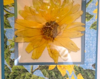 Earth Laughs in Flowers- Real Pressed Flower Greeting Card
