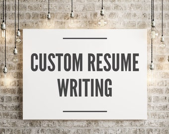 Customized Resume Writing | Certified Professional Resume Writer | Job  Search Help | Resume Development