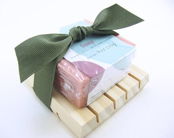 Handmade Soap, Gift Set with Soap Dish, Teacher Gift, You Pick Your Soap, Organic Natural Soap, Soap Deck