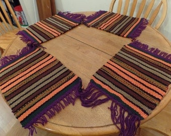 Set of 4 Placemats woven loom