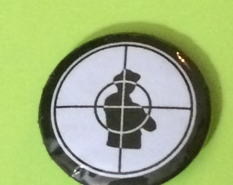 "1"" Public Enemy logo Button"