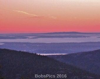 Maine Series- Sunset Series-Cadillac Mountain