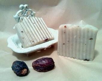 Date Soap Handmade Soap Hand Cut Soap Vegan Soap Unscented Soap Natural Soap Rustic Soap
