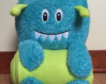 Stuffed Monster with Throw