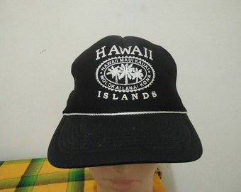 RARE Vintage HAWAII ISLANDS Cap Hat free size for all