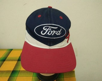 Rare Vintage FORD RACING Cap Hat Free size fit all