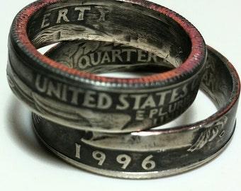 US Washington Quarter Ring, Coin Ring, Quarter Ring