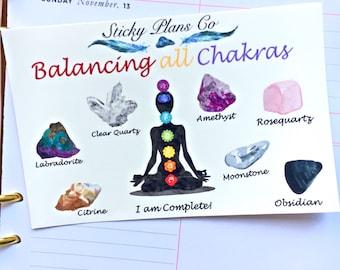 Chakra Balancing Stickers / Balancing all Chakras