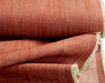 Scarlet Brick Texture Denim - Denim Collection - HALF YARD - Art Gallery Fabric - Cotton Fabric - Quilting Fabric