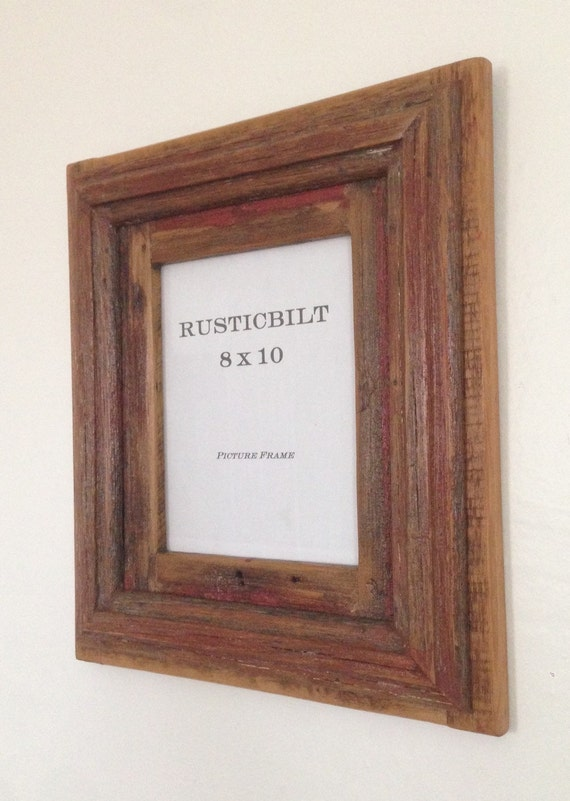 8 X 10 Reclaimed Wood Picture Frame Rustic Picture Frame