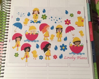 Planner Stickers: April Showers sticker sheet
