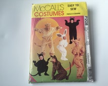 McCall's Costumes: Cats, Bear, Bunny, Lion, Kangaroo, sizes for kids 3-8 and adults Small, Medium, Large, XL