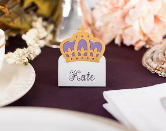 12 Crown Place Cards ~ Tent Cards ~ Food Cards